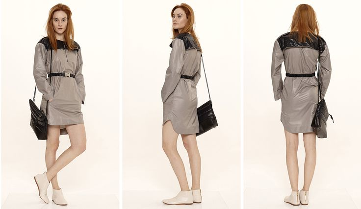 Dori Tomcsanyi windbreaker trench dress.  Available from September at the webshop. http://doritomcsanyi.com/