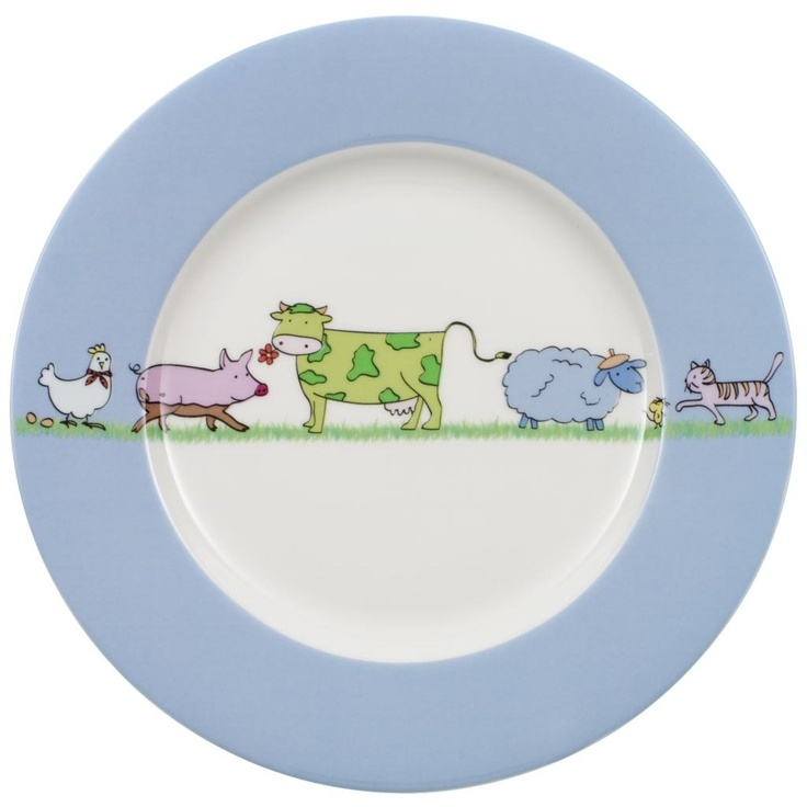 Farm Animals Children flat plate