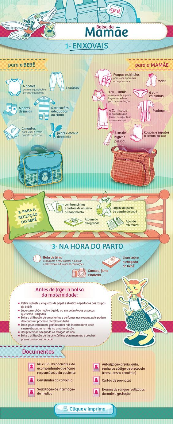 "GNT - Infográfico ""Bolsa de Bebê""   Infográfico fixo para po…   Flickr"