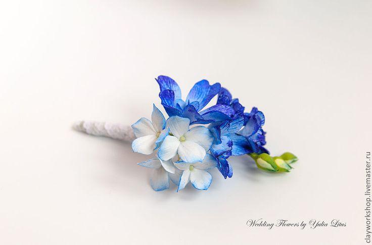 Купить Бутоньерка для жениха - бутоньерка, бутоньерка для жениха, бутоньерка на руку, цветы ручной работы, свадьба