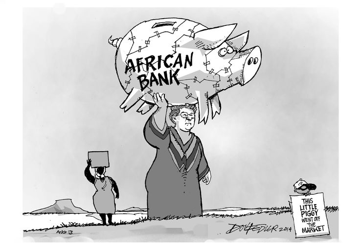 The latest Business Report weekly cartoon deals with the South African Reserve Bank's bailout of African Bank.