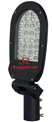 3300 Lumen LED Post Light - Fully Adjustable Slip Mount- 30 Watts - 4500K Bright Light - LED Pole Light - Heavy Duty Die Cast Aluminum - Parking lot Light
