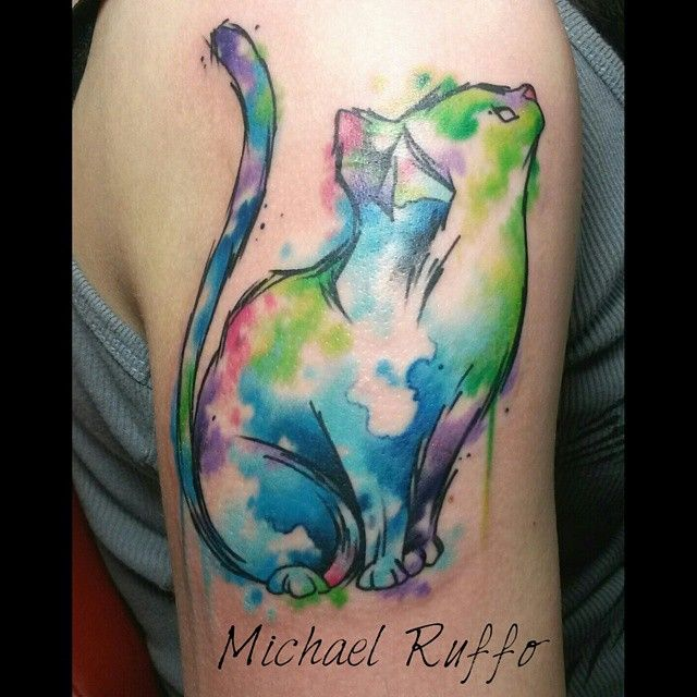 1000 ideas about watercolor cat tattoo on pinterest cat for Watercolor cat tattoo