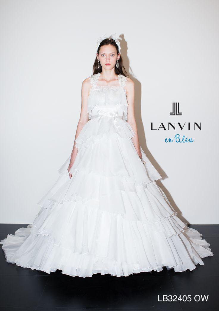 アクア・グラツィエがセレクトした、LANVIN EN BLEU(ランバン オン ブルー)のウェディングドレス、LB32405をご紹介いたします。