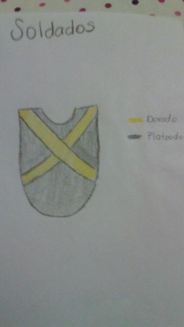 Boceto de vestuario de soldado