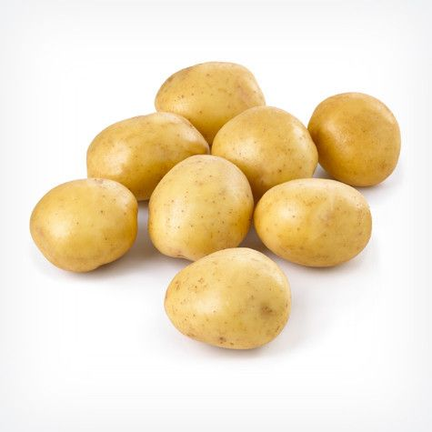 Yukon Gold Potatoes | Front Door Farms - Developed in Canada, Yukon Golds are a cross between a North American white potato and a wild South American yellow-fleshed one. Their golden flesh is richly flavored and fairly firm and moist.