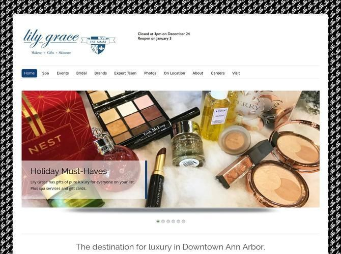 Lily Grace is beauty boutique offering high end beauty products including Trish McEvoy and Tata Harper and features a full spa specializing in bridal makeup.