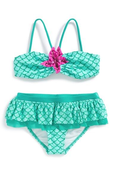 Free shipping and returns on Love U Lots Two-Piece Swimsuit (Toddler Girls & Little Girls) at Nordstrom.com. A sequined embellishment and playful ruffle trim amplify the aquatic appeal of a spritely two-piece swimsuit.