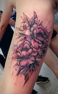 The bleeding peony tattoo is next on our list that represent the true value of expressing your feelings. This tattoo looks best when carved on arm.