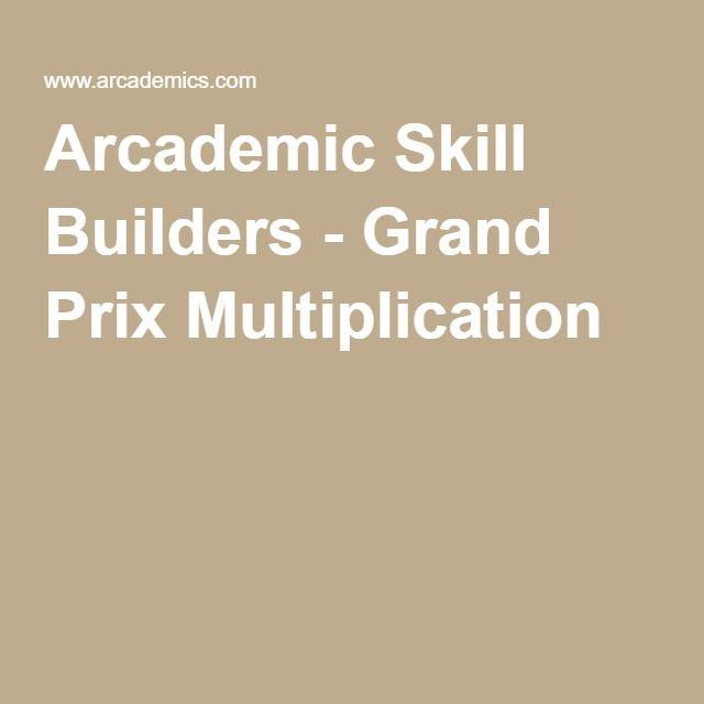 Arcademic Skill Builders - Grand Prix Multiplication