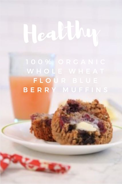 Healthy 100% Whole Wheat Blue Berry Muffins, breakfast, healthy, flaxseed, chia seeds, really tasty