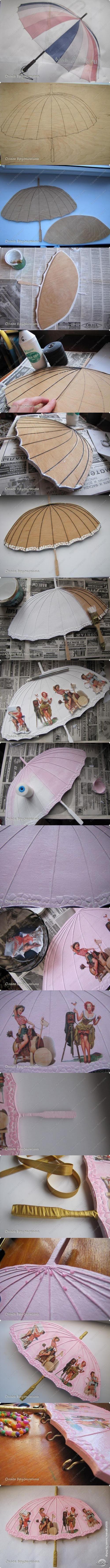 Декупаж - Сайт любителей декупажа - DCPG.RU   Ключница-зонтик для Барби