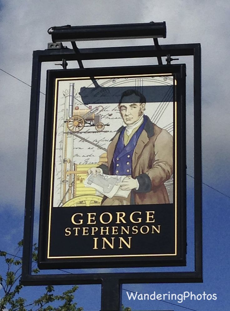 https://flic.kr/p/xXaQA7 | Pub sign for The George Stephenson Inn - Great Lime Road West Moor Newcastle Upon Tyne Tyne & Wear England