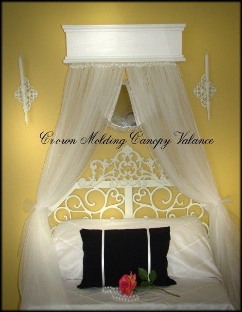 Window or Bed Valance Custom Cornice Canopy