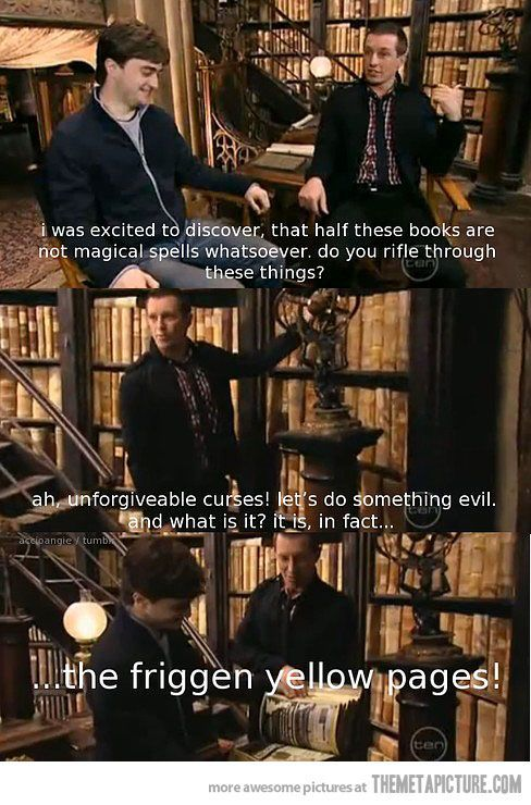 The real books of Harry Potter library