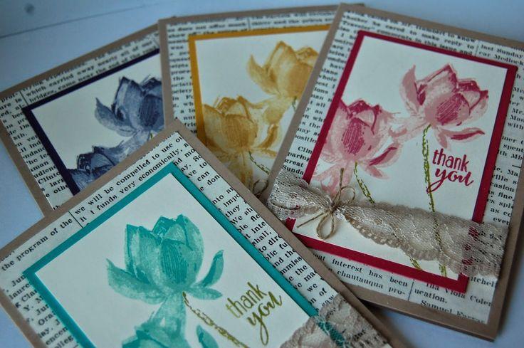 UK Independent Stampin' Up! Demonstrator - Julie Kettlewell: Lotus Blossom - SAB Freebie