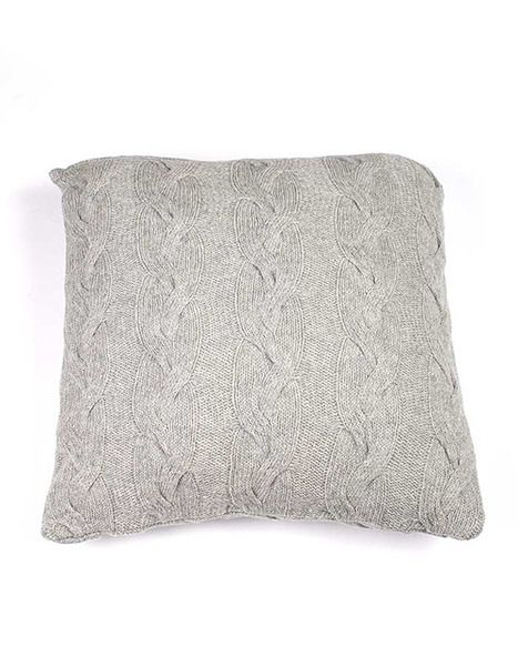 Cable Knit Cushion / Pillow - Light Grey Designed Indus Design   Krinkle