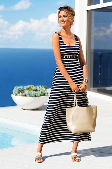"MOST WORN ~ ""Maxi Dress"", Color: Stripe, Fabric: Viscose Elastane, Brand: Capture, Store: EziBuy"