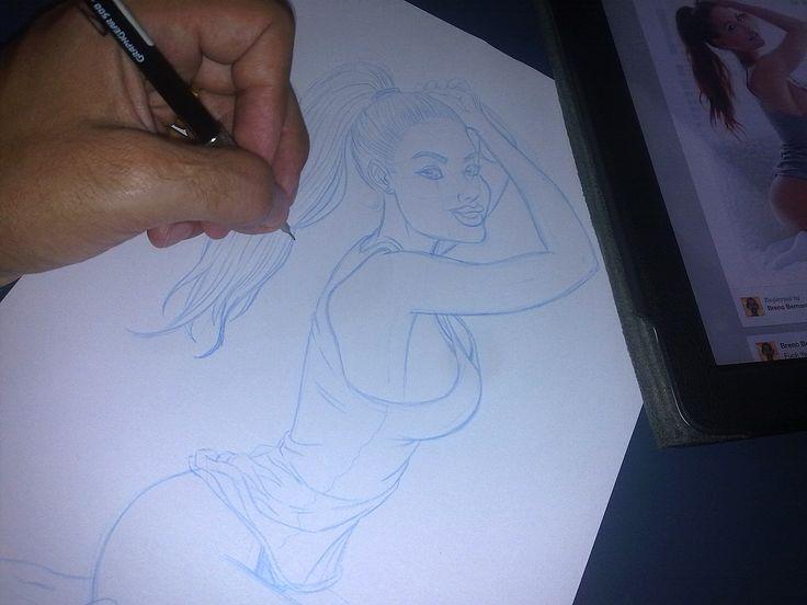 Lapiseira já foi, agora é caneta, escanear e colorir!!!!