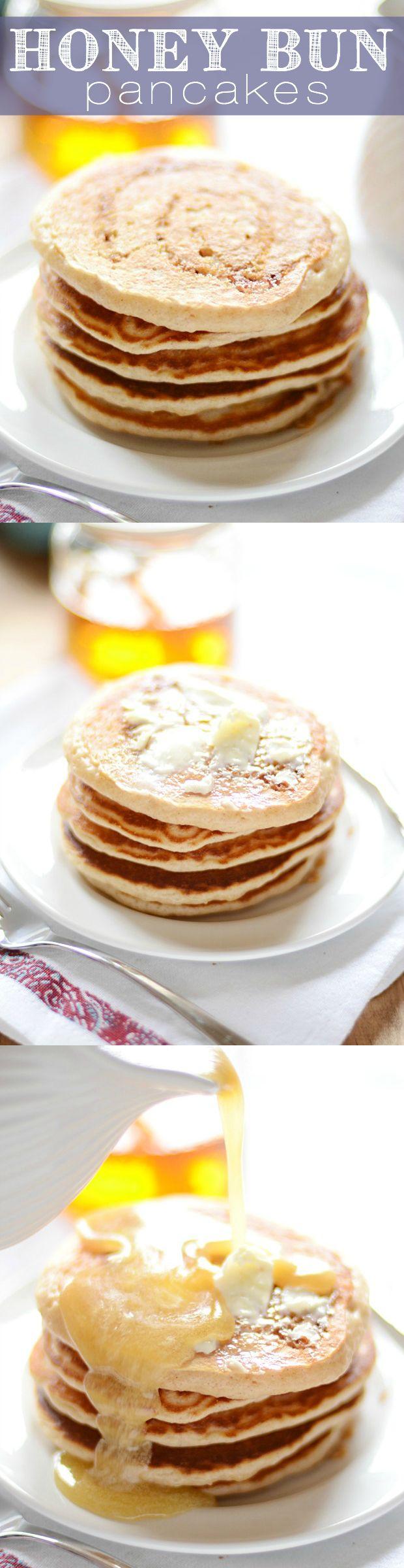 Honey Bun Pancakes | somethingswanky.com