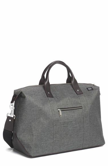 $548, Grey Canvas Duffle Bag: Jack Spade Tech Oxford Duffel Bag. Sold by Nordstrom. Click for more info: https://lookastic.com/men/shop_items/106489/redirect