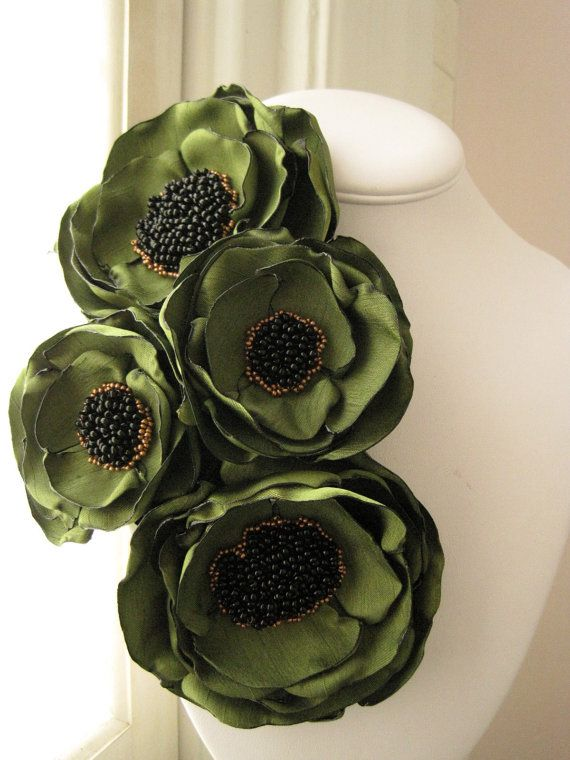 fabric flower brooch   Made To Order  corsage blooms by RiRiFisch, $105.00