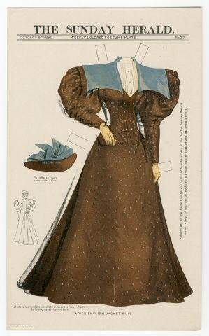 75.2344: Ladies' English Jacket Suit | dress | Paper Dolls | Dolls | National Museum of Play Online Collections | The Strong