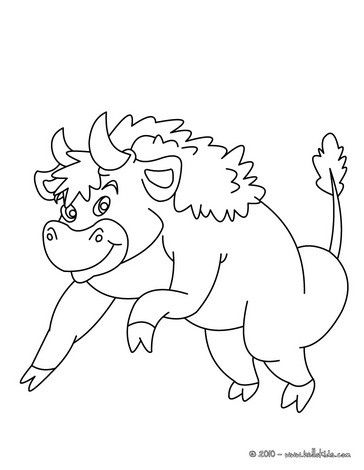 Bison Coloring Page More Forest Animals Sheets On Hellokids