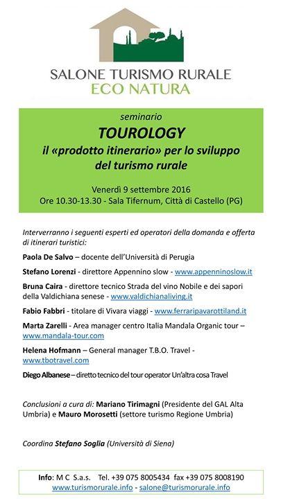 Gli itinerari turistici e la promozione dell'accoglienza turistica territoriale. Un mio intervento al Salone del Turismo Rurale di Città di Castello.
