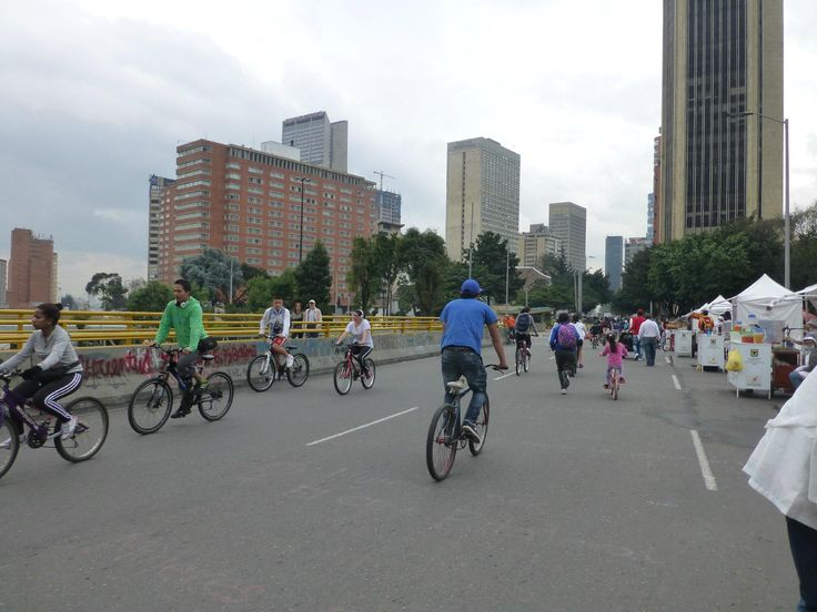 Ciclovia de Bogota - Every Sunday, 70% of the roads in downtown are shut down to traffic to make way for bike/walk/skate traffic