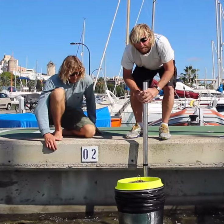 Floating Seabin prototype by Pete Ceglinski and Andrew Turton