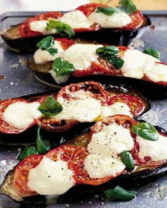 Low FODMAP Vegetarian Recipe and Gluten Free Recipe - Eggplant melts (Updated) - http://www.ibscuro.com/low_fodmap_vegetarian_recipes_eggplant_melts.html