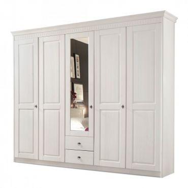 Armoire à vêtements Bodo 5 portes, bois massif
