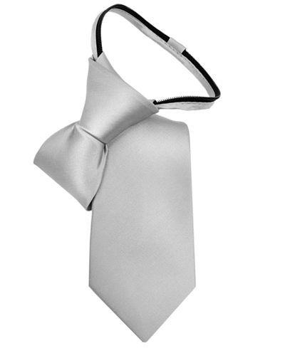 Calvin Klein Little Boys' Vellum Satin Zipper Tie - Special Occasion - Kids & Baby - Macy's