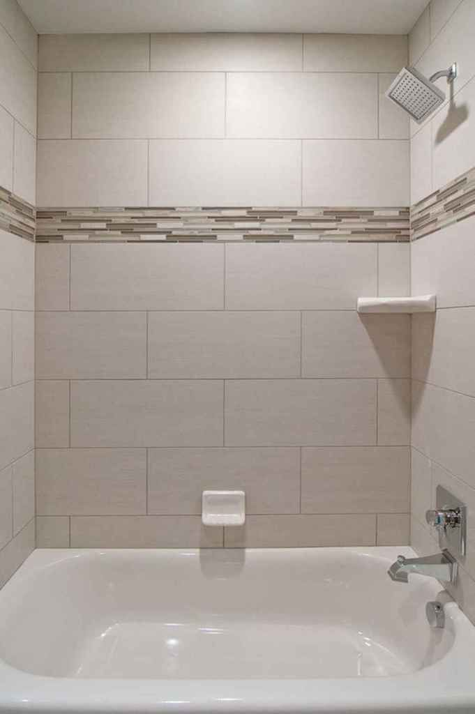 55 Stunning Bathroom Tile Makeover Ideas In 2020 Bathtub Tile Tile Tub Surround Bathtub Walls