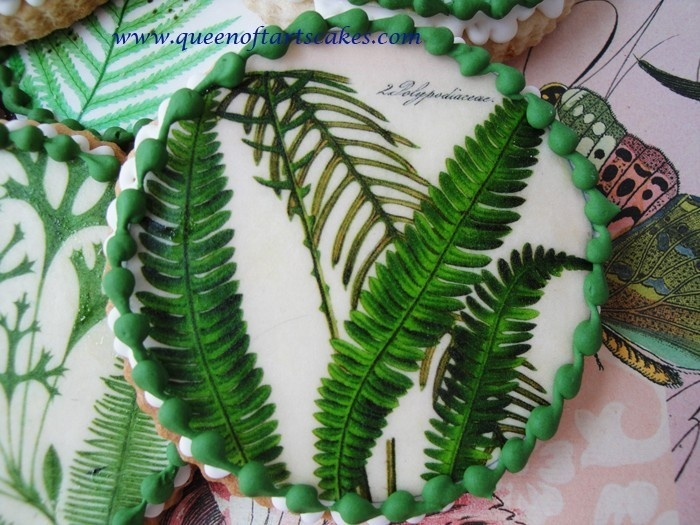 Botanical Fern Edible Image Wafer Papers - cookies, cakes, cupcakes, chocolates. $9.50, via Etsy.