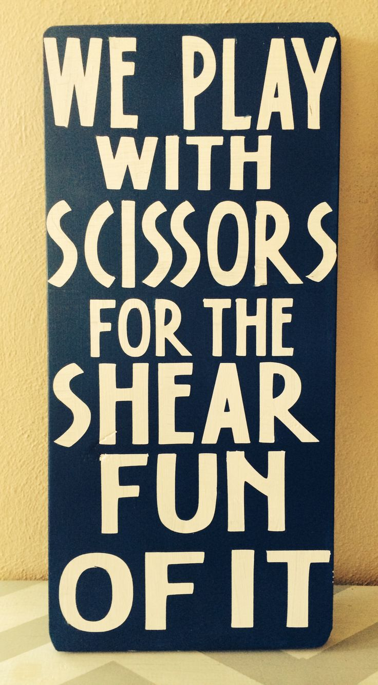 Diy salon hairstylist sign