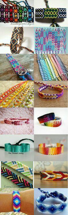Pulseras de diferentes modelos en cualquier color o combinación de colores a $10