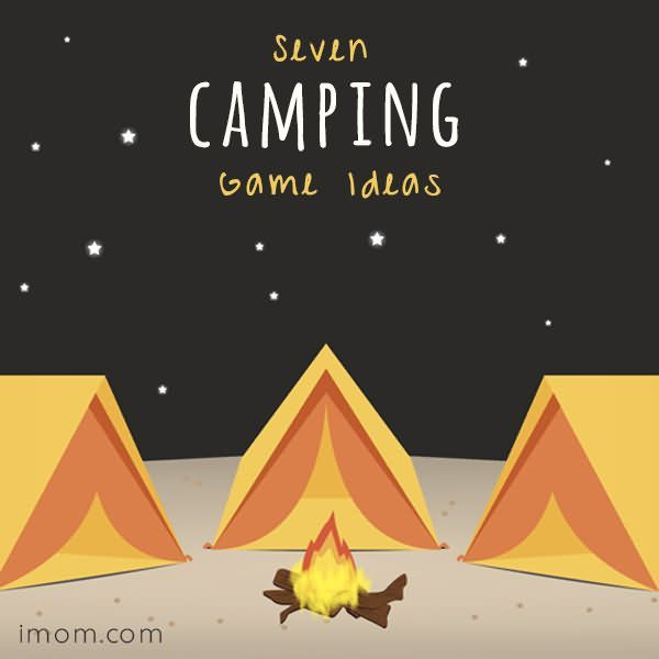 7 fun camping games and activities for families and kids - click on the image!