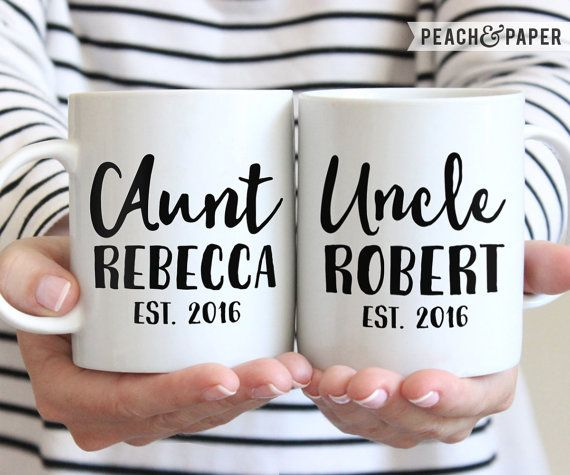 New Aunt And Uncle Gift New Aunt To Be Mug Going To Be Aunt Sister Pregnancy Reveal Coffee Mug New Uncle Reveal Gift Uncle Baby Announcement