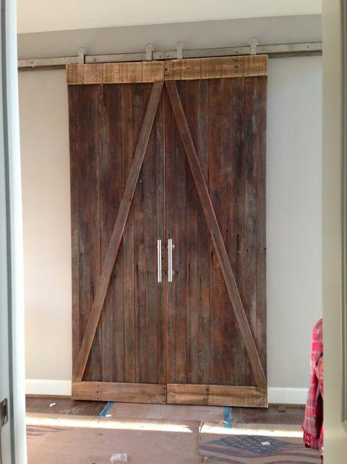 Reclaimed wooden sliding barn doors from buffalo ny for Affordable sliding barn doors