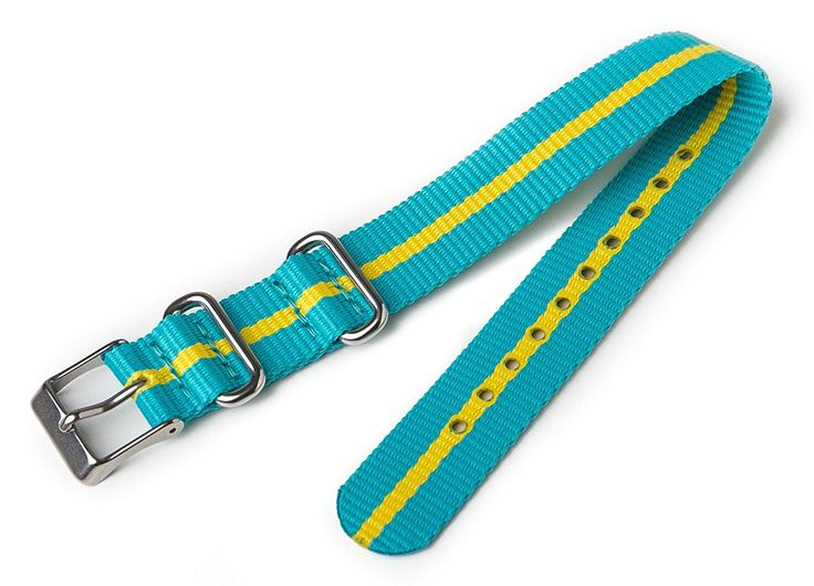 Timex T7B992 Weekender 16mm Teal and Yellow Nylon Slip-Thru Watch Strap >>> Want to know more about the watch, click on the image.