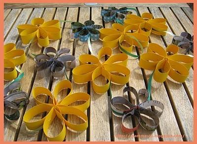 festone fiori di carta
