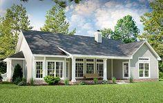 2001 sq ft rear elevation Plan 31093D: Great Little Ranch House Plan