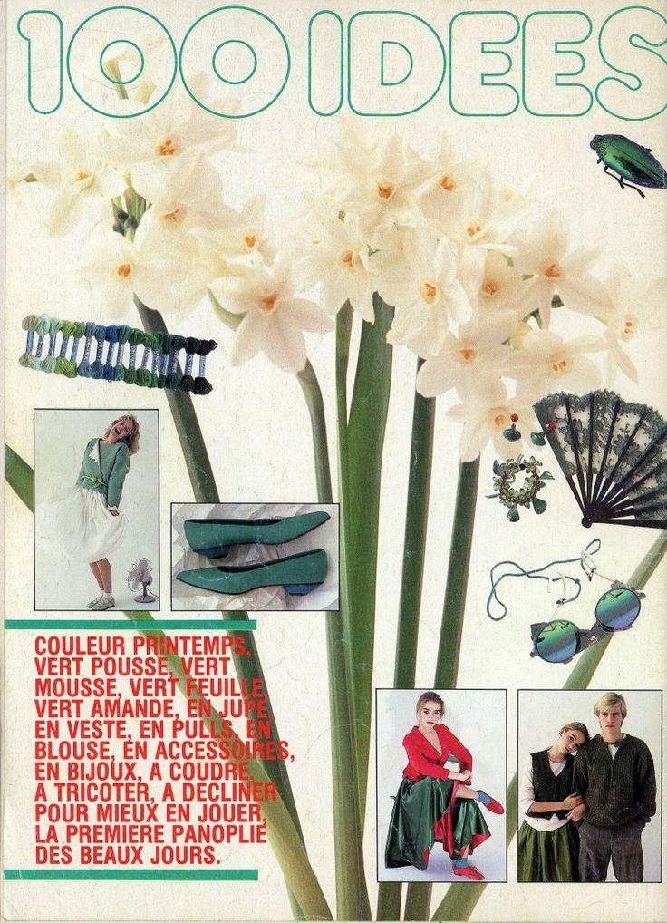 100 Idées n° 125 - mars 1984 - 4ème de couverture - photo Gilles de Chabaneix.