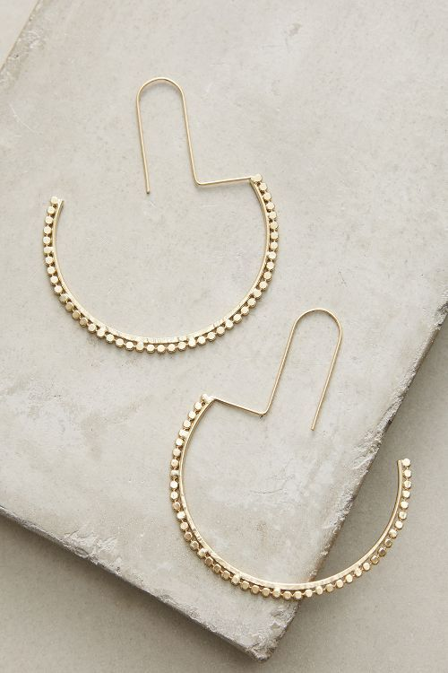 Half Moon Hoop Earrings #Accessoire
