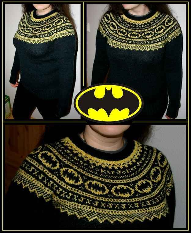 Batman Knitted Sweater   21 Geeky Projects Fit For A Superhero