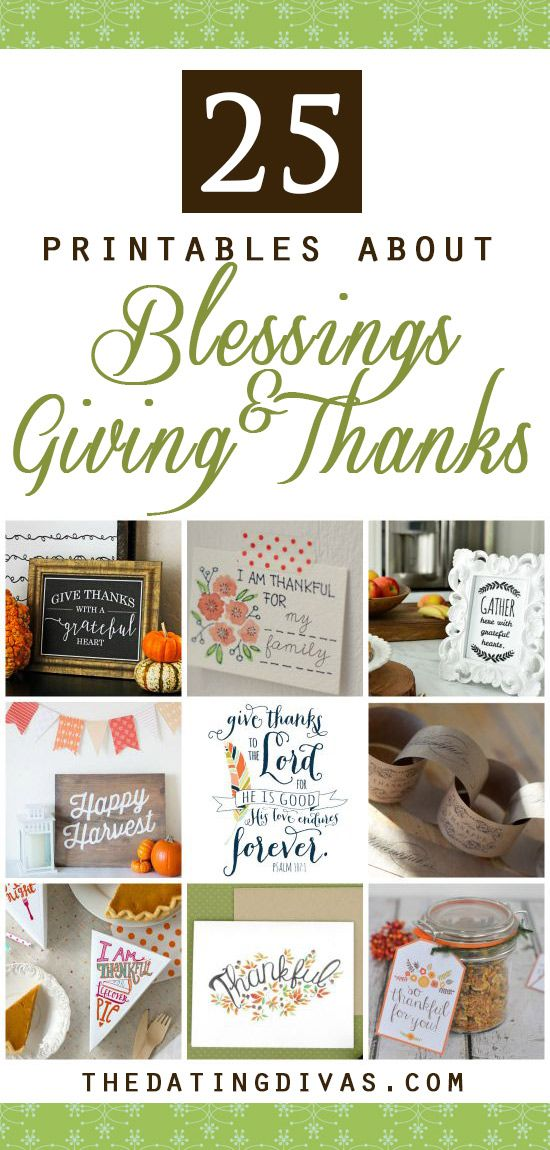 Give Thanks In All Things Printables