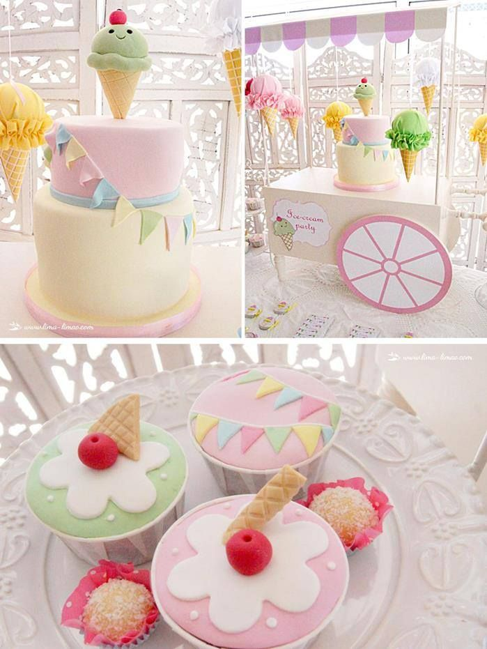 ICE CREAM THEMED 1ST BIRTHDAY PARTY Party Ideas Pinterest