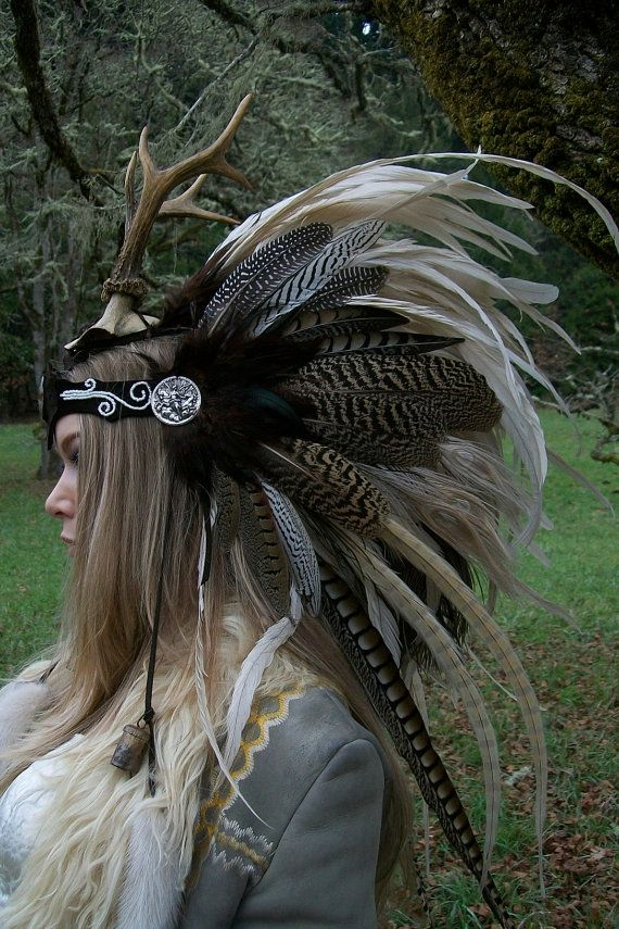 Goddess of the Dawn Feather Headdress